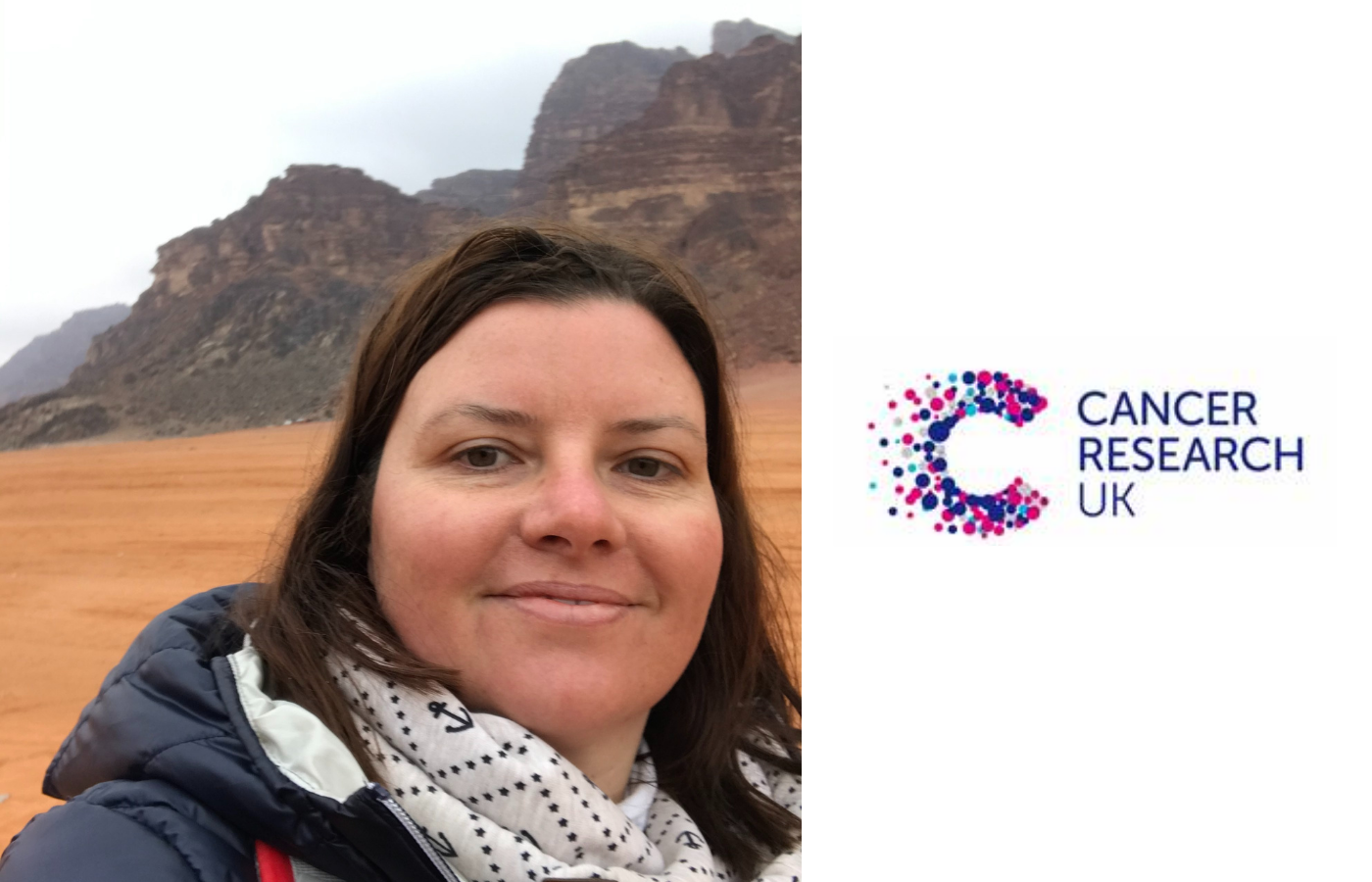 Image of Jana and cancer research UK logo