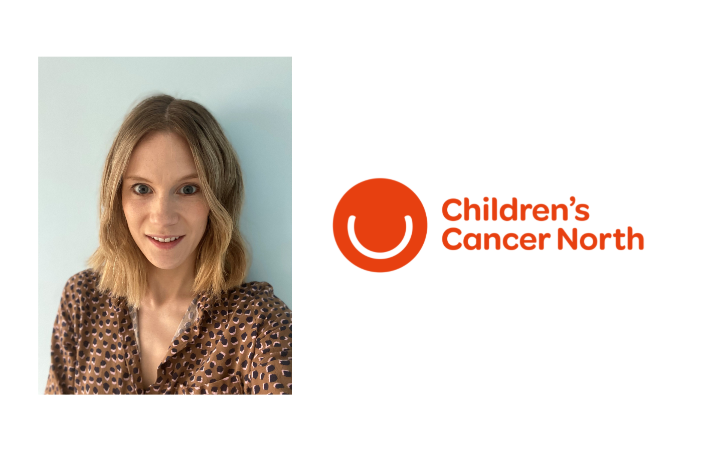 Image of Joy and Children's cancer north logo